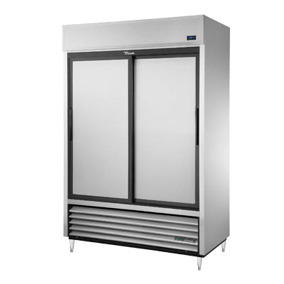 Refrigerator, Reach-in, Two Section, Stainless Steel Sliding Doors, 115v/60/1-ph