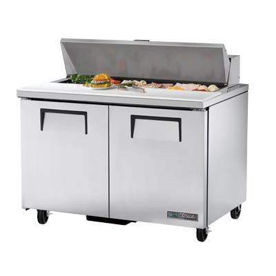 Sandwich/Salad Prep Unit, Two Section, with Stainless Steel Insulated Cover