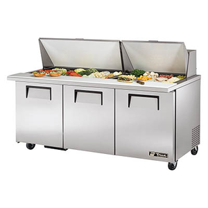 Mega Top Sandwich/Salad Prep Unit, Three Compartment