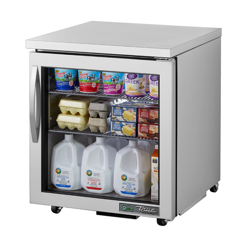 True TUC-27G-ADA-HC~FGD01 Undercounter Refrigerator, 33-38° F, One Section, Glass Door