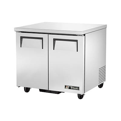 True TUC-36-HC Undercounter Refrigerator, 33-38° F, Two Section