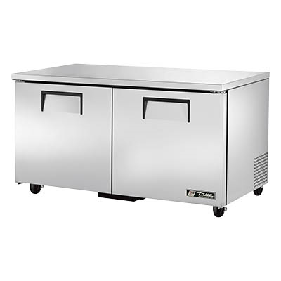 True TUC-60-HC Undercounter Refrigerator, 33-38° F, Two Section