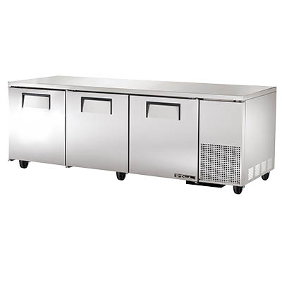 True TUC-93 Deep Undercounter Refrigerator, 33-38° F, Three Section