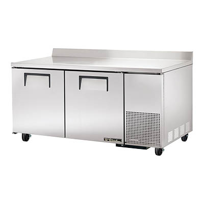 Deep Work Top Refrigerator, Two-Section, 1/10 HP, 115v/60/1-ph