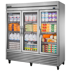 True T-72G-HC~FGD01 Refrigerator, Reach-in, Three-Section, Glass Door