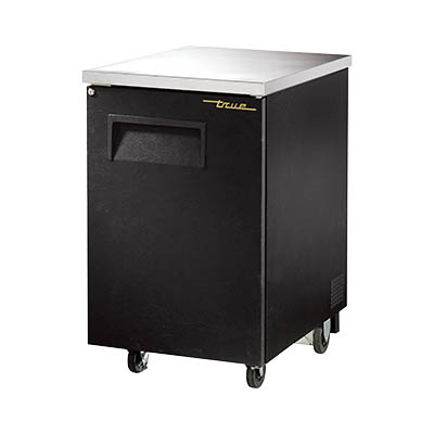 One-Section Back Bar Cooler with 1/2 Keg Capacity, Black