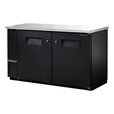 Two-Section Back Bar Cooler with (3) 1/2 Keg Capacity