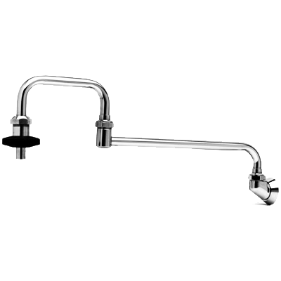 "T&S B-0580 Wall Mounted Pot Filler Faucet, with 18"" Double-Jointed Nozzle"