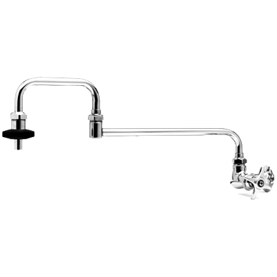 "T&S B-0592 18"" Wall Mounted Pot Filler Faucet with Single Control Faucet"
