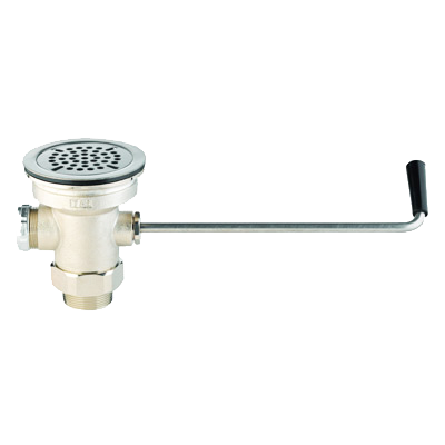 "T&S Brass B-3952-M Waste Valve, Twist Handle, 3-1/2"" Sink Opening, 2"" Drain Outlet"