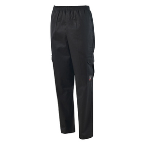 Winco UNF-11KS Cargo Chef Pants, Straight Leg, with Elastic Waistband, Small