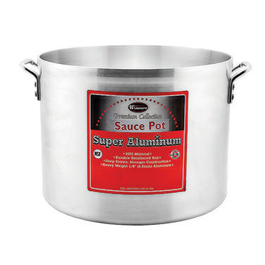 Winco AXHA-34 Heavy Duty Aluminum Sauce Pot 34qt