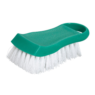 "Winco CBR-GR Cutting Board Brush 6-1/2"" Long, Green"