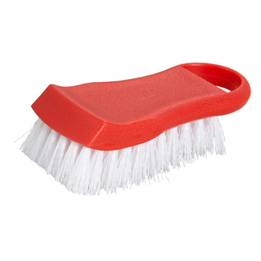 "Winco CBR-RD Cutting Board Brush 6-1/2"" Long, Red"