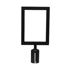 Winco CGSF-12K Sign Frame, fits on top of stanchion (CGS-38K), black