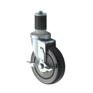 "Winco CT-1B Caster Set With Breaks, 5"" Diameter Wheels, 220 lbs. Capacity"