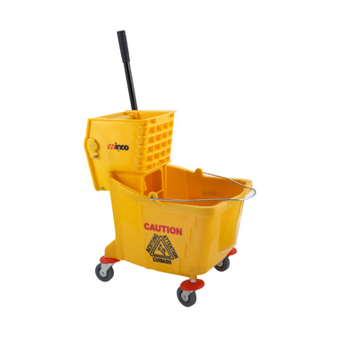 Winco MPB-36 Mop Bucket with Side Wringer, 36 Qt. Yellow