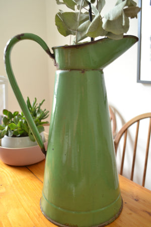 Green Metal Milk Pitcher