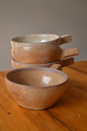 French Earthenware Coffee Bowls