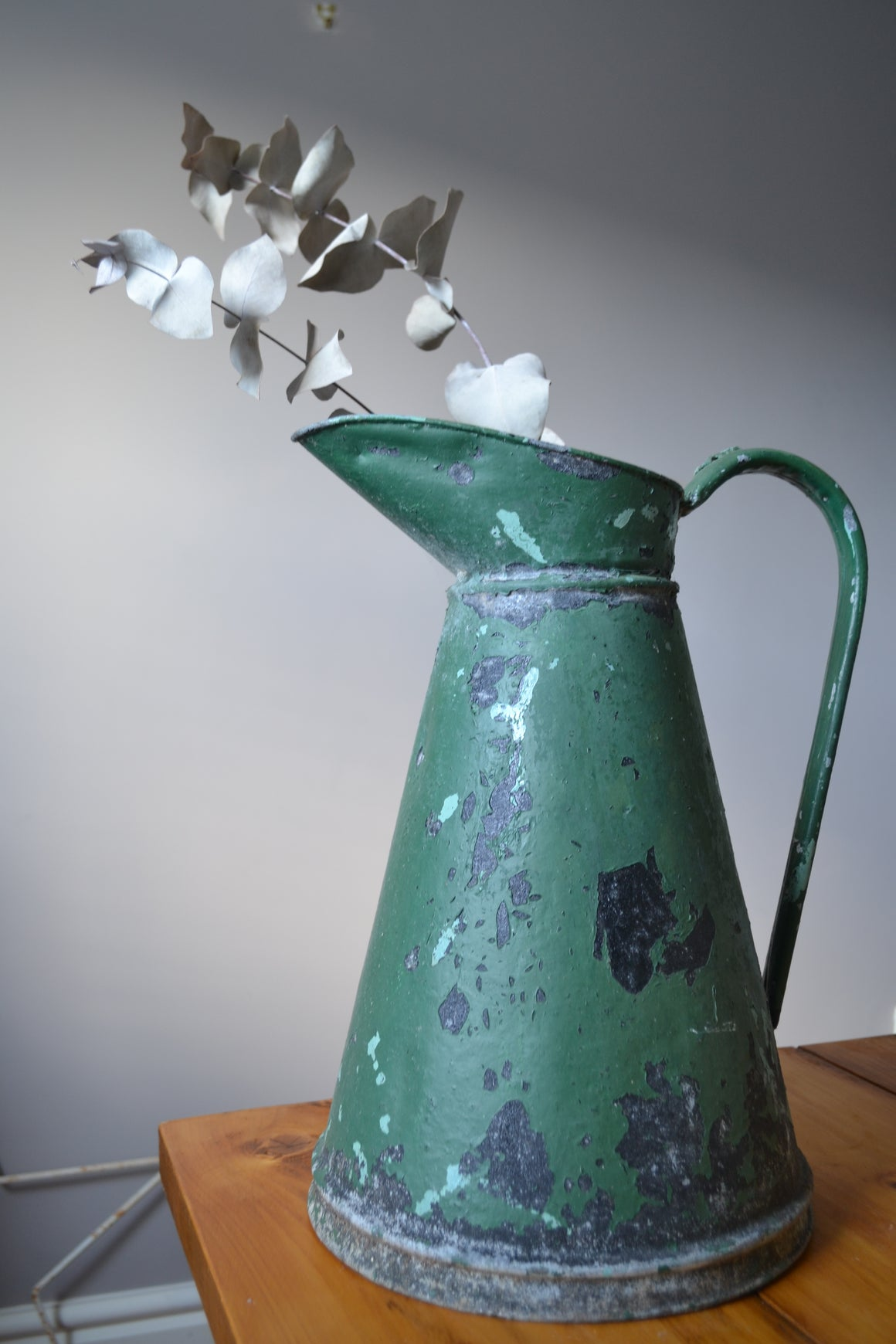 Green Vintage Milk Pitcher