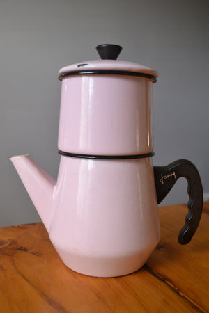 Pink Enamel Coffee Pot