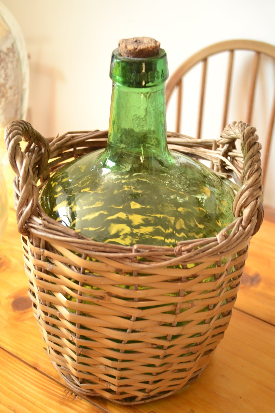 Medium Viresa Green Demi John With basket