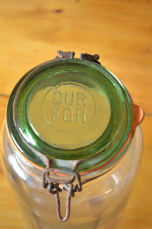French Clear Glass Durfor Preserving Jar