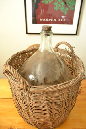Large Light Green Demijohn