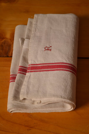 Red Stripe Teatowel