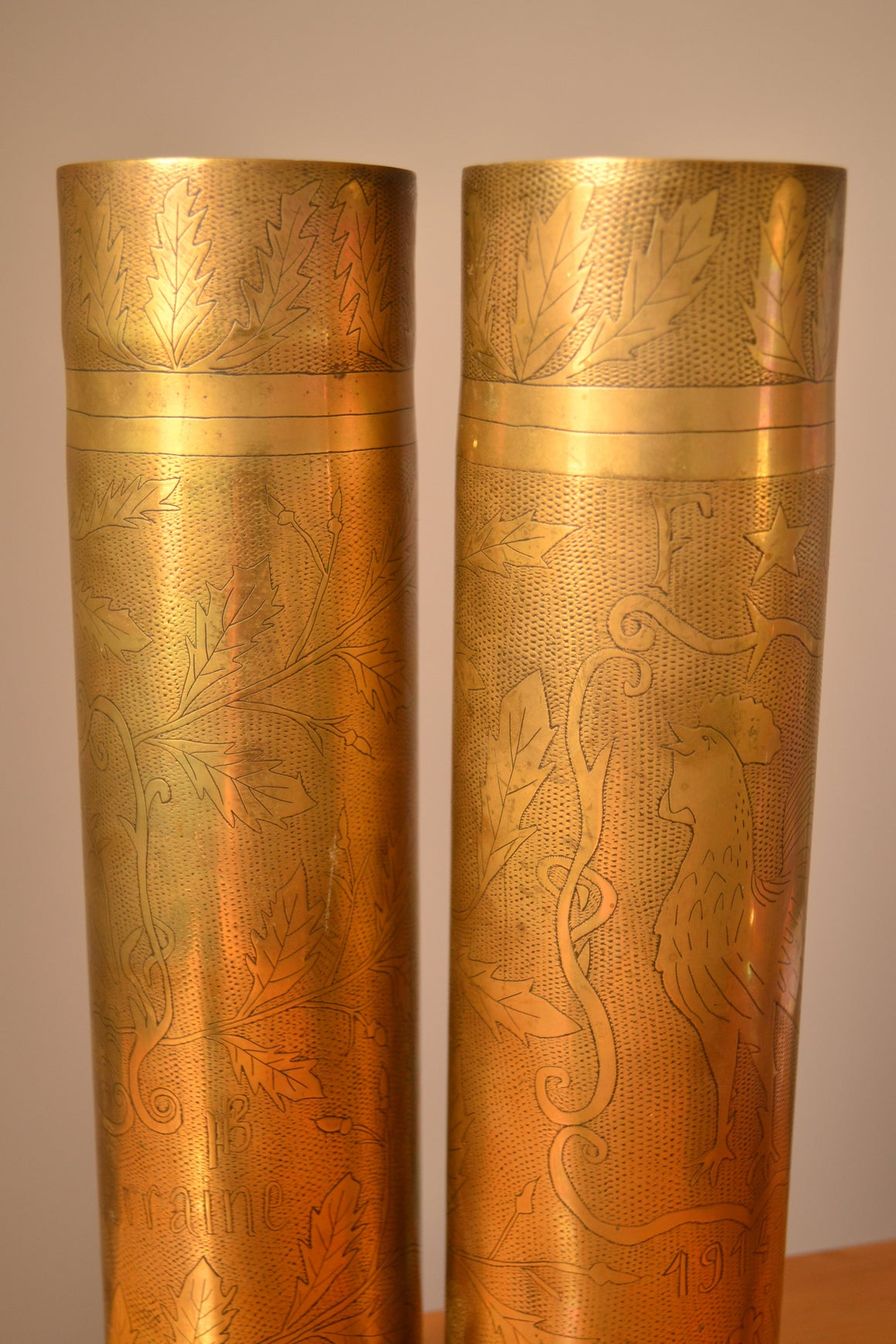Engraved Brass Trench Art