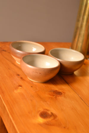 Set of Three Mini Earthenware Bowls