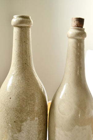 French Earthenware Bottles