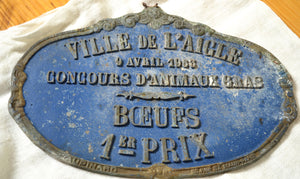 Gorgeous Vintage Iron French Agricultural Sign