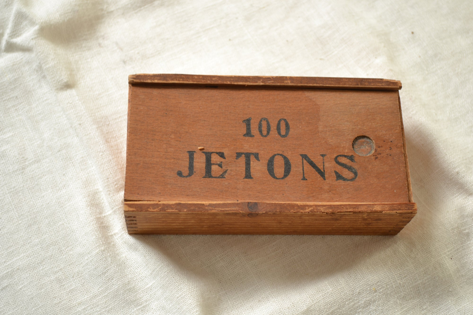 "Vintage French ""Jetons"" Wooden Game"