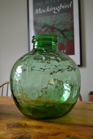 Large Viresa Green Car Boy / Demijohn