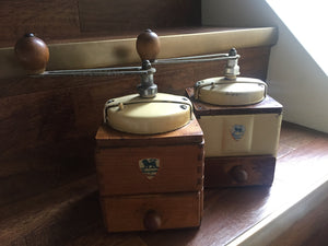 Vintage Cream Peugeot Coffee Grinder