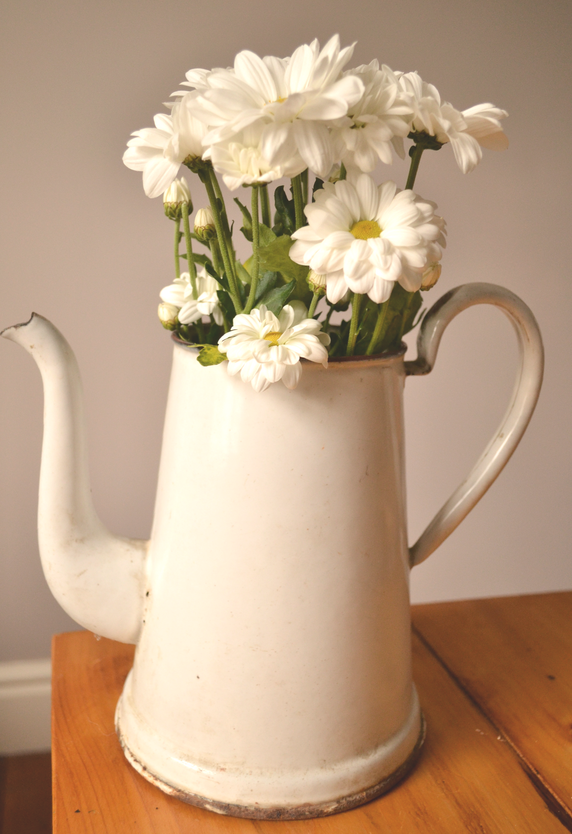 White Enamel Milk Jug