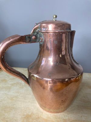 Copper tea/coffee pot