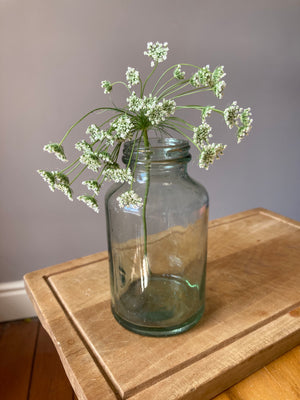 Medium Green Glass Jar