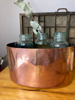 Oval copper basin