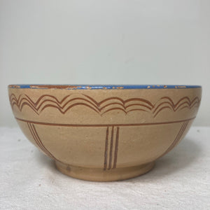 Petite bowl with blue rim