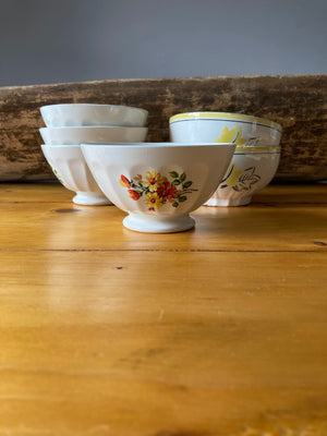 Floral cafe au lait bowl