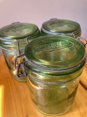 L'Ideale Green Glass Canning Jar 1/2 litre