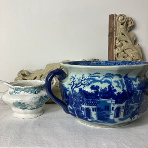 Blue and White Ironstone Chamber Pot