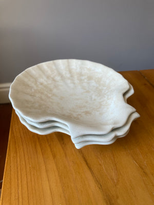 Set of three Royal Doulton Scallop shaped dishes