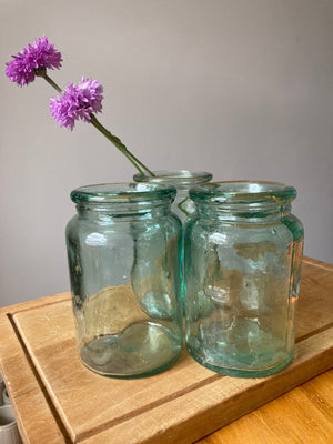Green Glass Jar / Bottle