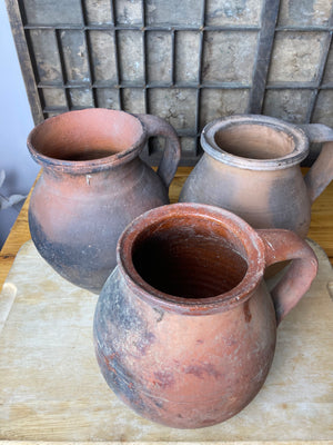 Rustic Earthenware Pitchers