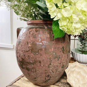 Extra large rustic confit style pot