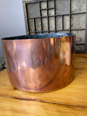 Round copper basin