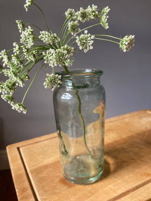 Slim Green Glass Jar
